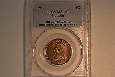 1914 Large Cent- PCGS MS-63BN.  Lovely coin.