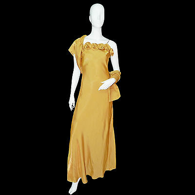 CHARM'ELLE Robe femme soirée longue Or taille 3 ou XS / S made in France
