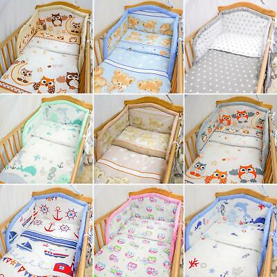 6 Piece pcs Baby Bedding Set Nursery Bumper To Fit Cot 120x60 Cot Bed 140x70