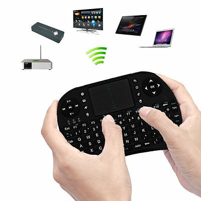 RF 2.4G Wireless Mini Handheld Keyboard Mouse Touchpad for Laptop PC Android DF