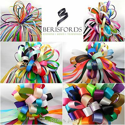 Berisfords Assorted 25mm Double Satin Ribbon Bundle 15 X 1Mtr
