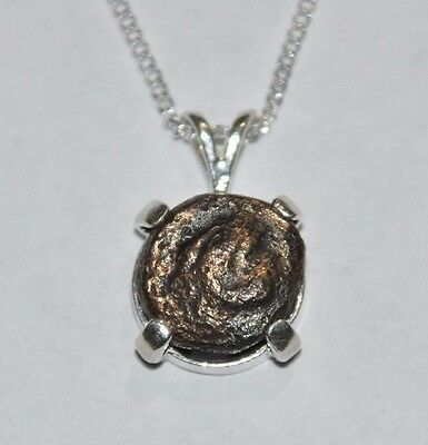Alexander The Great Authentic Ancient Coin 925 Sterling Silver Charm & Chain