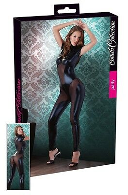 Tuta nera effetto bagnato Tg M Cottelli Collection Sexy shop catsuit 2730065