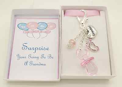New Clear Pregnancy Announcement Gift.For Grandma To Be.Nanny.To be.Daddy To Be