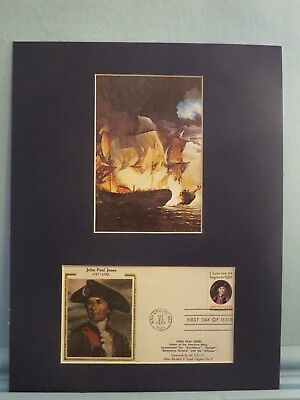 John Paul Jones & the Bonhomme Richard & First day Cover of the US Naval Academy