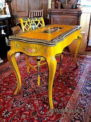 REGENCY PAINTED WRITING DESK & CHAIR - STUNNING - PU or SHIP