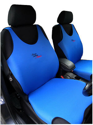 2 Blue Front Vest Car Seat Covers Protectors For Fiat 500 15 79