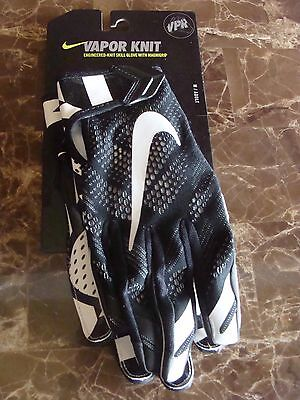 Nwt Nike Vapor Knit Adult Skill Football Gloves Gf0386 001 Black white Sz S~ 24a8d139881d