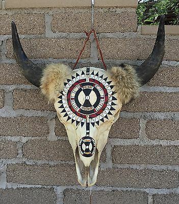 Hand Painted Buffalo Skull