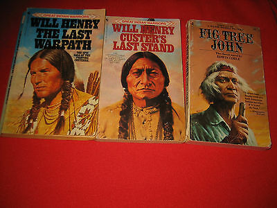 Lot 4 Indian bks Last Warpath Fig Tree John Custer's Last Stand Will Henry
