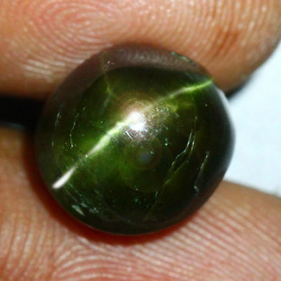 9.90 Cts_COLLECTOR GEMSTONE_100% NATURAL UNHEATED KORNERUPINE GREEN CAT'S EYE