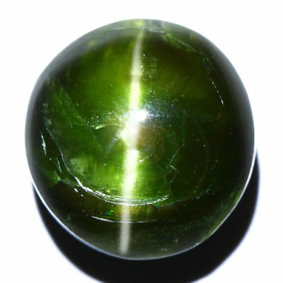 26.40 Cts_COLLECTOR GEMSTONE_100% NATURAL UNHEATED KORNERUPINE GREEN CAT'S EYE