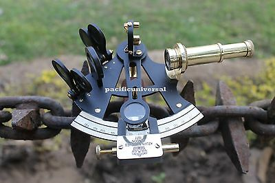 Nautical Brass Working Sextant Vintage Maritime Heavy Brass Sextant Desk Decor