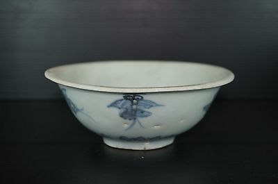 Ming dynasty 15th century blue and white bowl with butterfly motif