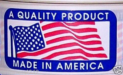 100 1 x 2 MADE IN AMERICA  USA FLAG LABEL STICKER