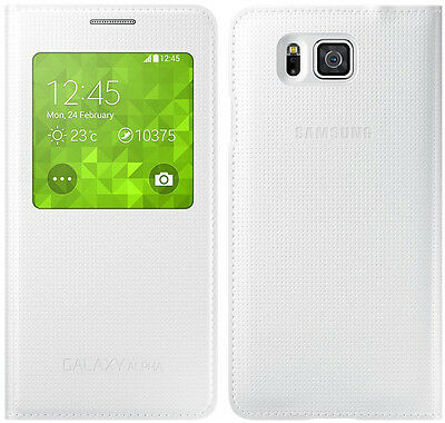 Genuine Samsung S VIEW FLIP CASE Galaxy ALPHA SM G850F mobile cover cell phone