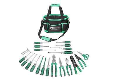 Commercial Electric Tools 22 Piece Electrician Tool Set, Electricians Pliers Kit