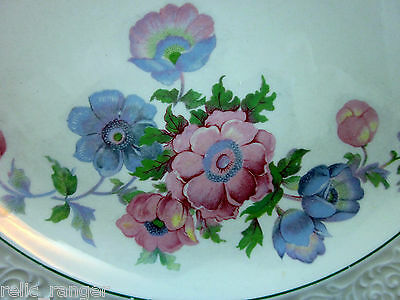 "Edwin M. Knowles 8.75"" Plate-Pink & Blue Floral Several Avail. Light Utencil"