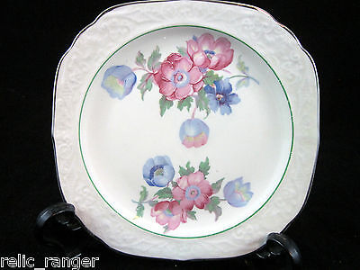 "Edwin M. Knowles 5.75"" Plate-Pink & Blue Floral Last One in Stock"