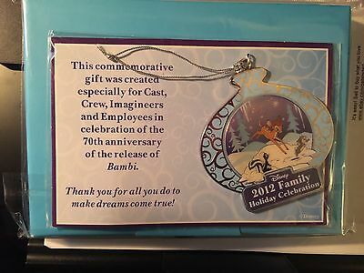 Disney 2012 Family Holiday Celebration Cast Member Exclusive Bambi Ornament
