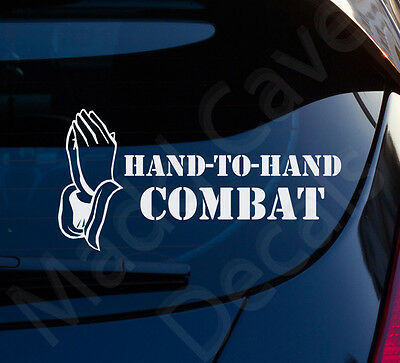 Hand To Hand Combat Christian Decal Car Laptop Graphic Sticker Window