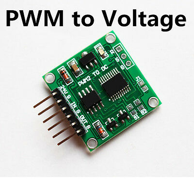 PWM to Voltage Transmitter signal Module 0-100% to 0-5v 0-10v linear conversion