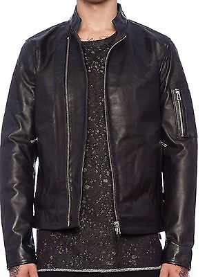 New Mens Tiger Of Sweden Rikki Leather Jacket Size L