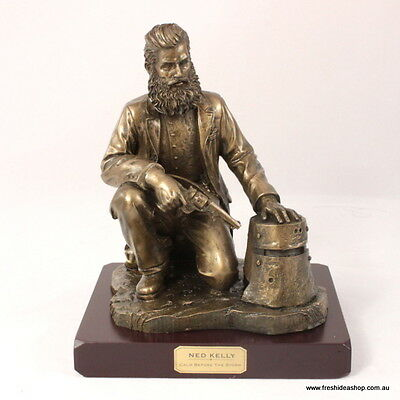 Bronze Outback Australian Heritage Figurine - Ned Kelly - Calm Before the Storm