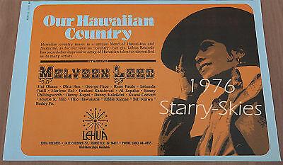 Melveen Leed~Our Hawaiian Country 1976 Promo-Publicity Ad