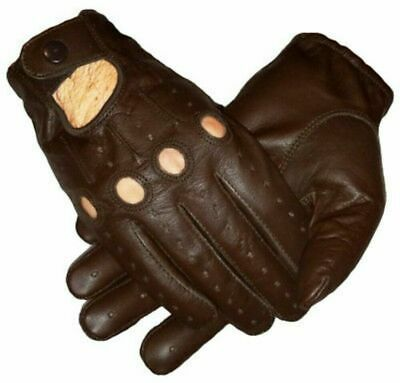 Brown Genuine Leather Unlined Driving Gloves Driving Gloves Perfect Fit