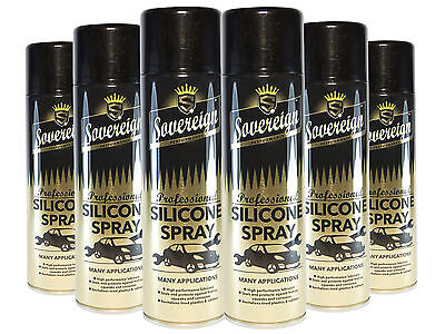 Sovereign Professional Silicone Aerosol Spray - Anti Static Lub - 500ML Cans