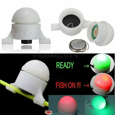 2X Sea Coarse Fishing LED Rod Tip Night Light Water Strike Alert Glow Stick Bite