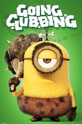 Minions Movie Going Clubbing 91.5 X 61Cm  Poster New Official Merchandise
