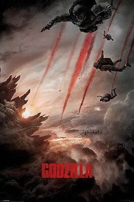 Godzilla Skydivers Film Teaser  91.5 X 61Cm Poster New Official Merchandise