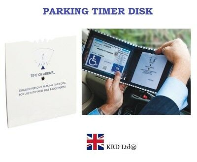 Disabled Person Parking Disc Plastic Timer Clock For Blue Badge Permit NEW