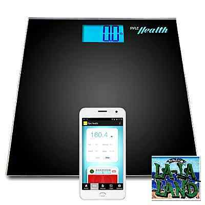 Pyle Smart Bathroom Body Scale Bluetooth Wireless Smartphone Tracking Weigh New