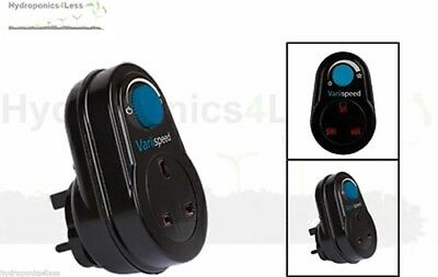 300W Uk Plug In Variable Fan Speed Controller Hydroponics Grow Inline Tent Fans