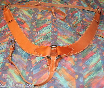 Jays Natural Leather Ranch Pulling Breast Collar with Jeremiah Watt SS Conchos