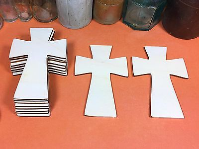 WOODEN CROSSES CELTIC Shapes 10.8cm (x10) wood cross cutout crafts shape blanks