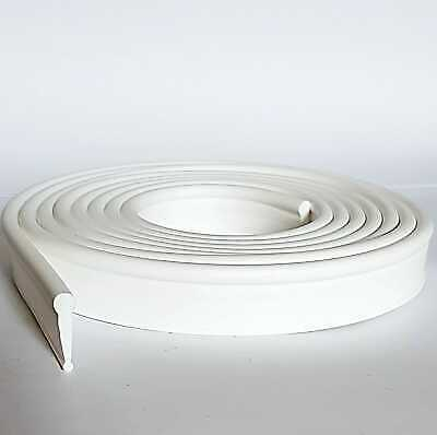 *3 SIZES AVAILABLE* Soft Rubber Shower Seal for Folding Door Shower Screen White