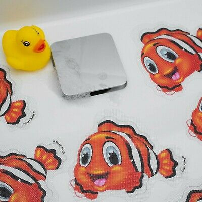 5 Fish Non Slip Baby Bath Child Safety Toddler Kids Shower Mat Cartoon Stickers