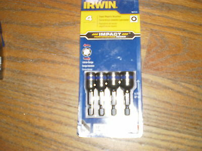 """Irwin 4-Pc.1/4"""" Magnetic Impact Performance Nutsetter 1837530 1/4, 5/16, 3/8""""7/1"""