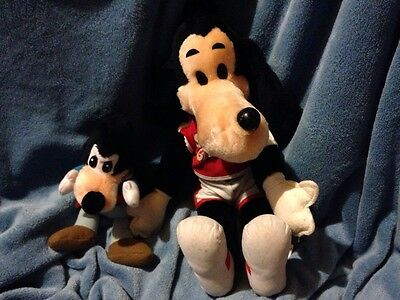 "Vintage Made In USA Sport Goofy Disney Plush 18"" California Stuffed Toys &Marley"