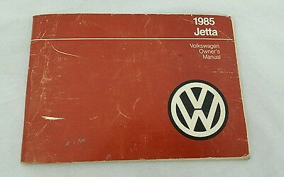 1985 Brochure VW Volkswagen Owners Manual Guide Books Jetta Factory Volkswagon