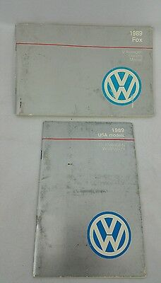 1989 Brochure VW Volkswagen Owners Manual Guide Books Fox Factory Volkswagon