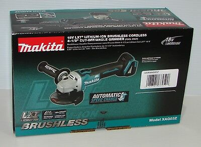 """New Brushless Makita XAG03 4-1/2"""" Angle Grinder, tool only, no 18V Battery Loose"""