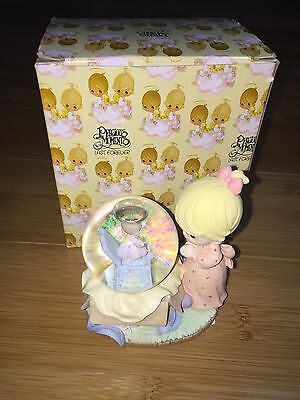 Precious Moments Girl With Gift Snow Globe