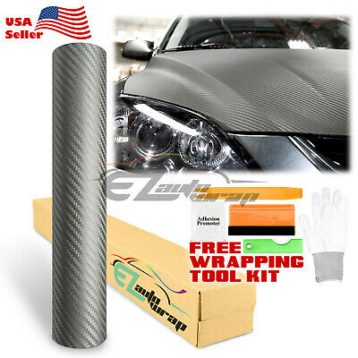 *3D Carbon Fiber Texture Matte Grey Vinyl Car Wrap Sticker Decal Film Sheet DIY