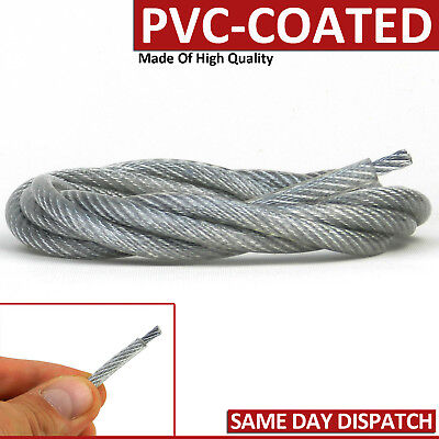 7X7 Pvc Coated Galvanised Steel Wire Rope Metal Cable High Quality Marine Sizes
