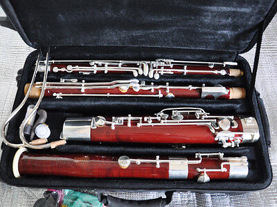 Prof. Heckel System Silver plated Maple wooden C Bassoon High D E key+LuxuryCase